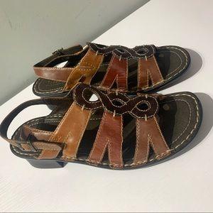 Josef Seibel leather block sandals